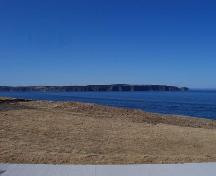 View of the location identified as West Point Cemetery, showing Bell Island in the background, Portugal Cove, NL.; HFNL/Andrea O'Brien 2009