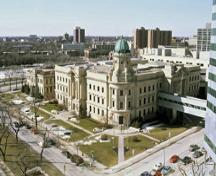 General view of the Winnipeg Law Courts.; Parks Canada/Parcs Canada, 1995.