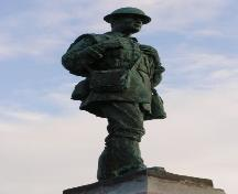 Detail of the soldier statue on the Yarmouth War Memorial, Yarmouth, NS, 2006.; Heritage Division, NS Dept. of Tourism, Culture and Heritage, 2006