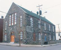 View of the main facade of the Cornerstone Theatre, 016 Queen Street, St. John's, NL.; HFNL 2005