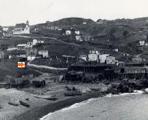View of Torbay, NL, circa 1930, including Old St. Nicholas Anglican Cemetery.; Torbay Museum 2007