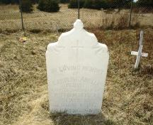 Headstone from the late 1800s in the Old Roman Catholic Cemetery, St. Paul's, NL.; 2009 Town of St. Paul's