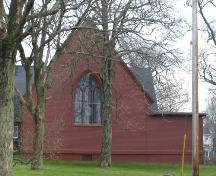 West elevation of Holy Trinity Anglican Parish Hall, Yarmouth, NS, 2006.; Heritage Division, NS Dept. of Tourism, Culture & Heritage, 2006