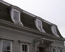 Detail of the front dormers of the J. W. Bingay / Dr. Morton House, Yarmouth, NS, 2006.; Heritage Division, NS Dept. of Tourism, Culture and Heritage, 2006