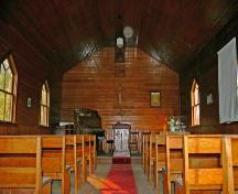 Interior view of Garland United Church, Garland, 2007; Historic Resources Branch, Manitoba Culture, Heritage, Tourism and Sport, 2007