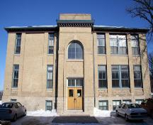 Primary elevation, from the south, of the Julia Clark School, Winnipeg, 2007; Historic Resources Branch, Manitoba Culture, Heritage, Tourism and Sport, 2007