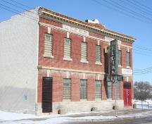 Primary elevation, from the southwest, of the Belgian Club, Winnipeg, 2006; Historic Resources Branch, Manitoba Culture, Heritage, Tourism and Sport, 2006