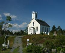 St. James United Church and surrounding cemetery, Spry Bay, N.S., 2006.; Friends of St. James United Church Heritage Society, 2006