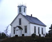 Front and side elevations, St. James United Church, Spry Bay, N.S., 2006. ; Heritage Division, NS Dept. of Tourism, Culture and Heritage, 2006