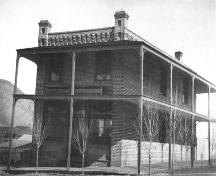 Historic view of the Inland Cigar Factory, 1896; City of Kamloops Museum and Archives, #2074