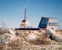 General view of the Churchill Rocket Research Range, showing its special-purpose buildings and structures in their as-found designs, materials and construction technology.; Parks Canada Agency/Agence Parcs Canada.