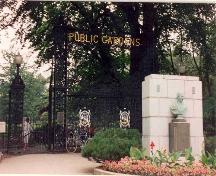 Main gates on the corner of South Park Street and Spring Garden Road, Public Gardens, Halifax, Nova Scotia, 2004.; HRM Planning and Development Services, Heritage Property Program, 2004.