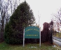 Gate located at the entrance on Forest Hill Road; City of Fredericton