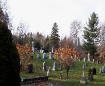 Image showing tombstones and landscape features; City of Fredericton
