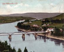 Looking east, historic image; Collection of Mr. Fred Phillips