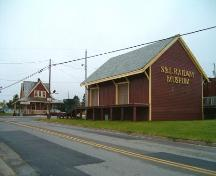 Sydney and Louisburg Railway Station and freight shed, Louisbourg, Nova Scotia, 2004. ; Heritage Division, NS Dept. of Tourism, Culture and Heritage, 2004