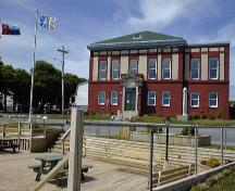 View of the front facade of Western Union Cable Building, Bay Roberts, NL. ; Town of Bay Roberts 2004