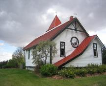 View of Holy Trinity Anglican Church, Red Deer County (October 3, 2007); Red Deer County