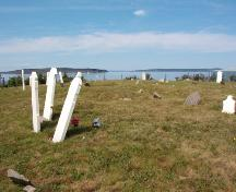All Saints Anglican Cemetery #1, view from crest of hill, overlooking Conception Bay, July 2004; Heritage Foundation of Newfoundland and Labrador, 2005