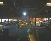 Interior view of the Commonwealth Air Training Plan Hangar, Brandon area, 2005; Historic Resources Branch, Manitoba Culture, Heritage, Tourism and Sport, 2005