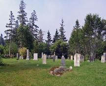 Goat Island Baptist Church cemetery, Upper Clements, Nova Scotia, 2009. ; Heritage Division, NS Dept. of Tourism, Culture and Heritage, 2009