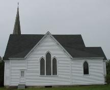 Side elevation (Eastern), St. Matthew's Evangelical Lutheran Church, Rose Bay, Lunenburg County, Nova Scotia, 2006.; Heritage Division, Nova Scotia Department of Tourism, Culture and Heritage, 2006.