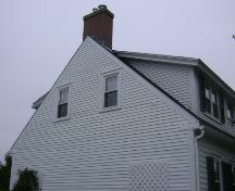 This photograph shows the simple roof-line, typical of the early English homes of New Brunswick, 2007; Town of St. Andrews