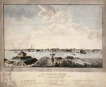 Watercolour of Fort Saint-Jean in 1779, showing a plan of the fort in the bottom left corner.; Library and Archives Canada / Bibliothèque et Archives Canada, C-001507, 1779.