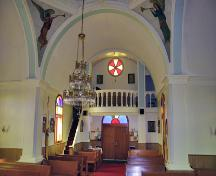 Interior view of the Ukrainian Catholic Church of the Immaculate Conception, Winnipegosis, 2006; Historic Resources Branch, Manitoba Culture, Heritage and Tourism, 2006