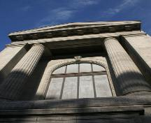 Detail of the main elevation of the Mitchell-Copp Building, Winnipeg, 2007; Historic Resources Branch, Manitoba Culture, Heritage, Tourism and Sport, 2007