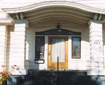 Detail of front entranceway; MacNaught History Centre and Archives, A. Cormier Collection, 104.005