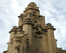 Detail view of the Waddell Fountain, Winnipeg, 2006; Historic Resources Branch, Manitoba Culture, Heritage, Tourism and Sport, 2006