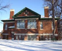 West elevation of the Cornish Library, Winnipeg, 2006; Historic Resources Branch, Manitoba Culture, Heritage, Tourism and Sport, 2006