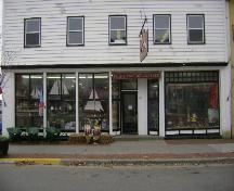 This photograph shows the attractive storefront of the building, 2008; Town of St. Andrews