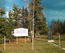 Contextual view, from the west, of the Icelandic Pioneer Cemetery, Gimli, 2007; Historic Resources Branch, Manitoba Culture, Heritage, Tourism and Sport, 2007