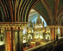 Interior view of Notre-Dame Roman Catholic Church / Basilica; Parks Canada/Parcs Canada, 1994.