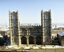 Exterior view of the Notre-Dame Roman Catholic Church / Basilica; Parks Canada/Parcs Canada, 1994.