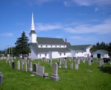 View of St. Peter's Anglican Church and Cemetery. NL. Photo taken 2009.; HFNL/Andrea O'Brien 2009