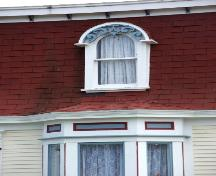 View of detailing on the Gorman/Hynes House, Harbour Breton, NL.; Doug Wells 2009