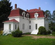 Rear perspective, St. Joseph's Glebe House, St. Joseph's, NS, 2005.; Heritage Division, Nova Scotia Department of Tourism, Culture and Heritage, 2005