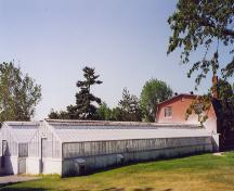 General view of the greenhouses at the Central Experimental Farm, 1995.; Parks Canada Agency / Agence Parcs Canada, 1995.