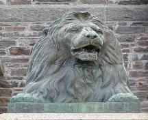 Dingle Tower, Halifax, bronze lion detail, 2004; Halifax Regional Municipality, 2004