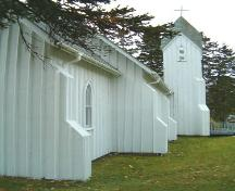 Buttresses, St. Peter's and St. John's, Baddeck, Nova Scotia, 2004. ; Heritage Division, NS Dept. of Tourism, Culture and Heritage, 2004.