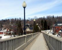 Featured are the bridge deck and railings looking toward Arthur Street.; Mary Tivy, 2008.