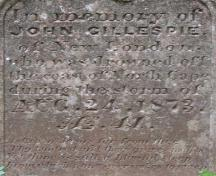 Detail of inscription; Carter Jeffery, 2009