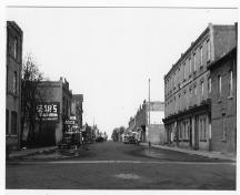 Archival view, from the south, showing the early quality and condition of the Historic Downtown Carberry heritage district, Carberry, ca. 1925.; Historic Resources Branch, Manitoba Culture, Heritage, Tourism and Sport, 2007 Courtesy Carberry Plains Archives, 1925