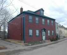 150 St. George Street, Annapolis Royal, north west elevation, 2005; Heritage Division, NS Dept. of Tourism, Culture and Heritage, 2005