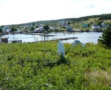 View overlooking New Perlican Harbour of St. Matthew's United Church Southside Cemetery, New Perlican, NL. Photo taken 2009.; HFNL/Andrea O'Brien 2009