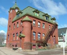 Old Post Office, Parrsboro, NS, rear elevation, 2007.; Heritage Division, NS Dept. of Tourism, Culture and Heritage, 2007.