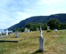 Looking east at St. Thomas of Villa Nova Cemetery,Photo taken August 2006; Kim Barnes, Town of Conception Bay South, 2007